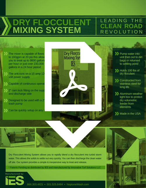 IES/Neptune Dry Flocculent Mixing System Brochure